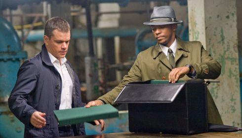 Matt Damon und Anthony Mackie in «The Adjustment Bureau»