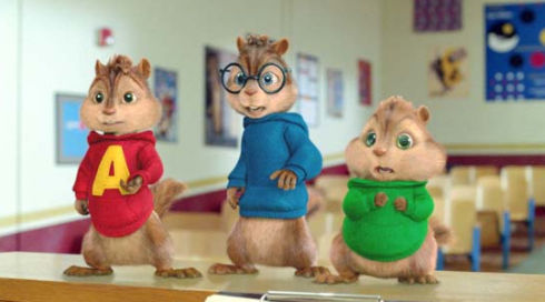 Alvin, Simon und Theodore in «Alvin and the Chipmunks 2»