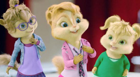 Jeanette, Brittany und Eleanor in «Alvin and the Chipmunks 2»