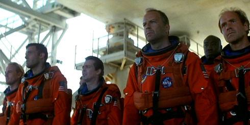 Owen Wilson, Ben Affleck, Steve Buscemi, Bruce Willis, Michael Clarke Duncan und Will Patton in «Armageddon»
