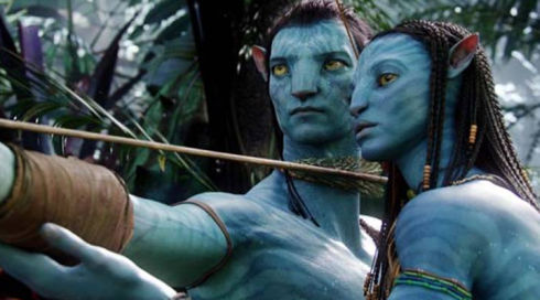 Sam Worthington und Zoe Saldana in Avatar