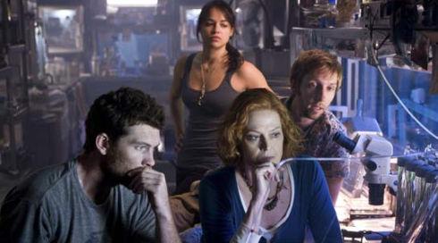 Sam Worthington, Michelle Rodriguez, Sigourney Weaver und Joel David Moore in «Avatar»