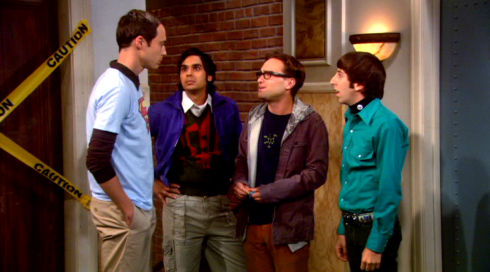 Jim Parsons, Kunal Nayyar, Johnny Galecki und Simon Helberg in «The Big Bang Theory»