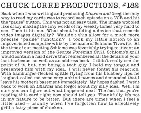 «Vanity Card» von Produzent Chuck Lorre