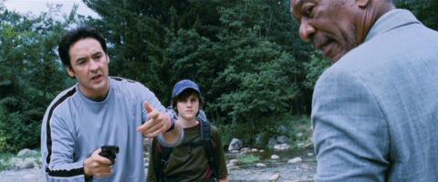 John Cusack, Jamie Anderson und Morgan Freeman in «The Contract»