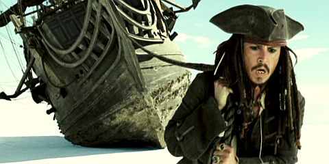 Johnny Depp in «Pirates of the Caribbean: At World's End»