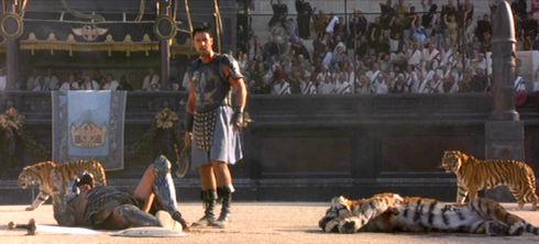 Sven-Ole Thorsen und Russell Crowe in «Gladiator»