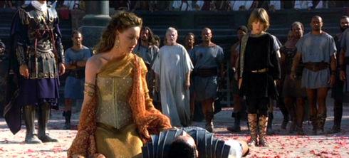 Tomas Arana, Connie Nielsen, Russell Crowe, Derek Jacobi und Spencer Treat Clark in «Gladiator»