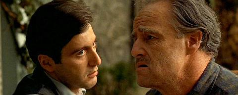 Al Pacino und Marlon Brando in «The Godfather»