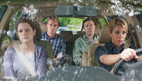 Jenna Fischer, Owen Wilson, Jason Sudeikis und Christina Applegate in «Hall Pass»