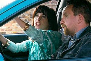 Sally Hawkins und Eddie Marsan in «Happy-Go-Lucky»