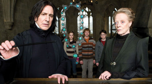 Alan Rickman, Emma Watson, Rupert Grint, Daniel Radcliffe und Maggie Smith in «Harry Potter and the Half-Blood Prince»