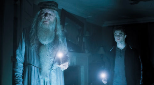 Michael Gambon und Daniel Radcliffe in «Harry Potter and the Half-Blood Prince»