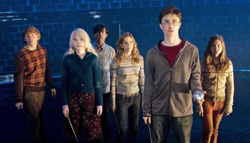 Rupert Grint, Evanna Lynch, Matthew Lewis, Emma Watson, Daniel Radcliffe und Bonnie Wright in «Harry Potter and the Order of the Phoenix»