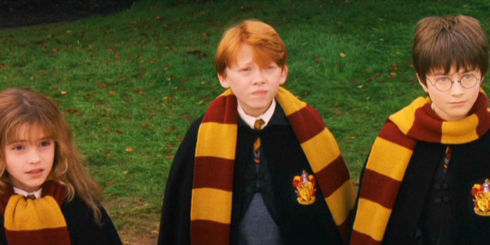 Emma Watson, Rupert Grint und Daniel Radcliffe in «Harry Potter and the Philosopher's Stone»