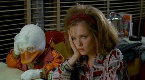 Howard und Lea Thompson in «Howard the Duck»