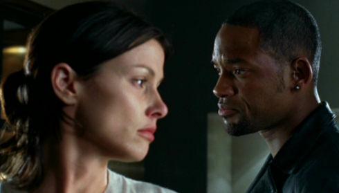 Bridget Moynahan und Will Smith in «I, Robot»