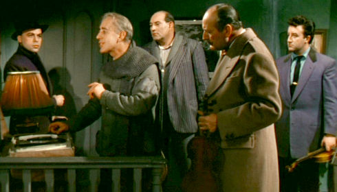 Herbert Lom, Alec Guinness, Danny Green, Cecil Parker und Peter Sellers in «The Ladykillers»