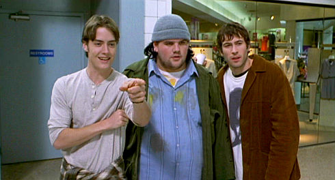 Jeremy London, Ethan Suplee und Jason Lee in Mallrats