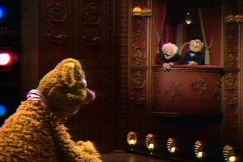Fozzy Bear und Statler & Waldorf in «The Muppet Show»