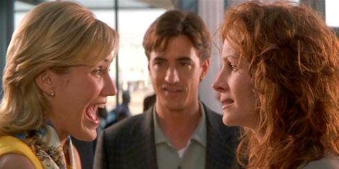 Cameron Diaz, Dermot Mulroney und Julia Roberts in «My Best Friend's Wedding»