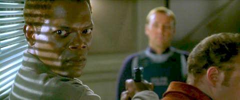 Samuel L. Jackson und Kevin Spacey in «The Negotiator»