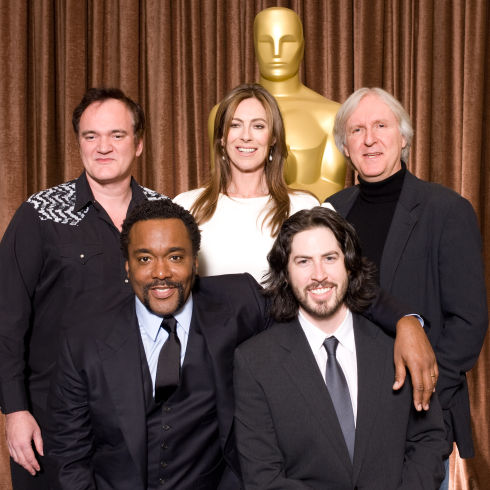 Quentin Tarantino, Lee Daniels, Kathryn Bigelow, Jason Reitman und James Cameron (Foto: Todd Wawrychuk / ©A.M.P.A.S.)