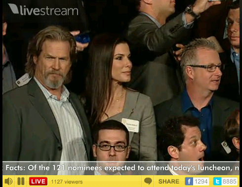 Jeff Bridges und Sandra Bullock am Nominees Luncheon