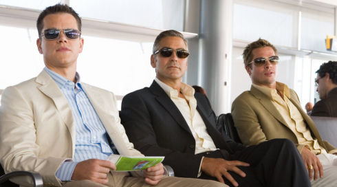 Matt Damon, George Clooney und Brad Pitt in «Ocean's Thirteen»