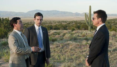 Joe Lo Truglio, Bill Hader und Jason Bateman in «Paul»