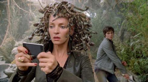 Uma Thurman und Logan Lerman in «Percy Jackson & the Lightning Thief»