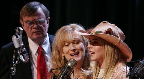 Garrison Keillor, Meryl Streep und Lindsay Lohan in «A Prairie Home Companion»