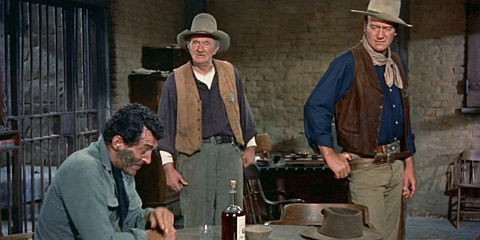 Dean Martin, Walter Brennan und John Wayne in «Rio Bravo»