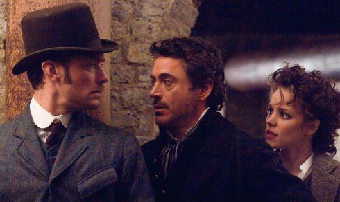 Jude Law, Robert Downey Jr. und Rachel McAdams in «Sherlock Holmes»