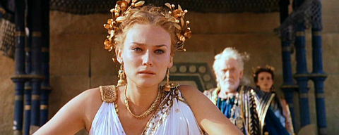 Diane Kruger, Peter O'Toole und Saffron Burrows in «Troy»