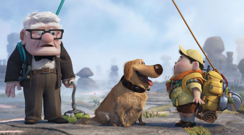 Carl, Dug und Russell in «Up»