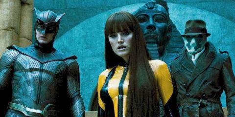 Patrick Wilson, Malin Akerman und Jackie Earle Haley in «Watchmen»