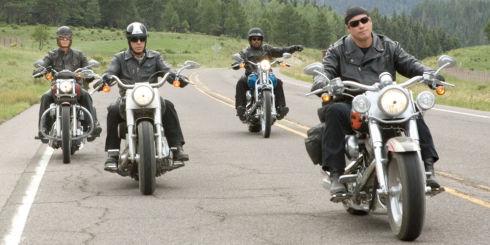 William H. Macy, Tim Allen, Martin Lawrence und John Travolta in «Wild Hogs»